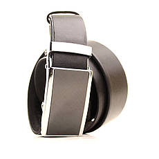 Ремень кожаный Lazar 120-125 см черный L35U1A67-M, фото 2