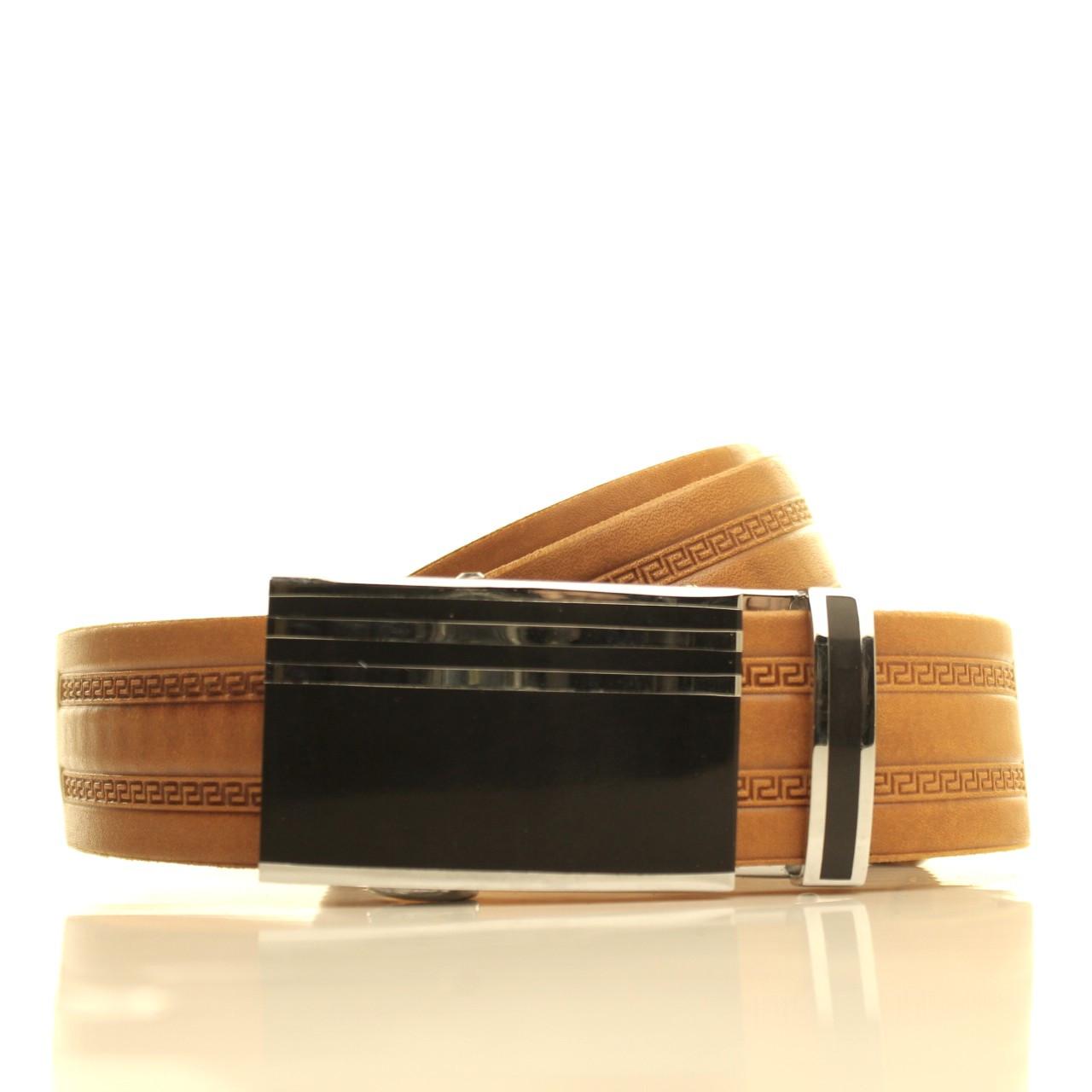 Ремень кожаный Lazar 105-115 см рыжий l35u1a143