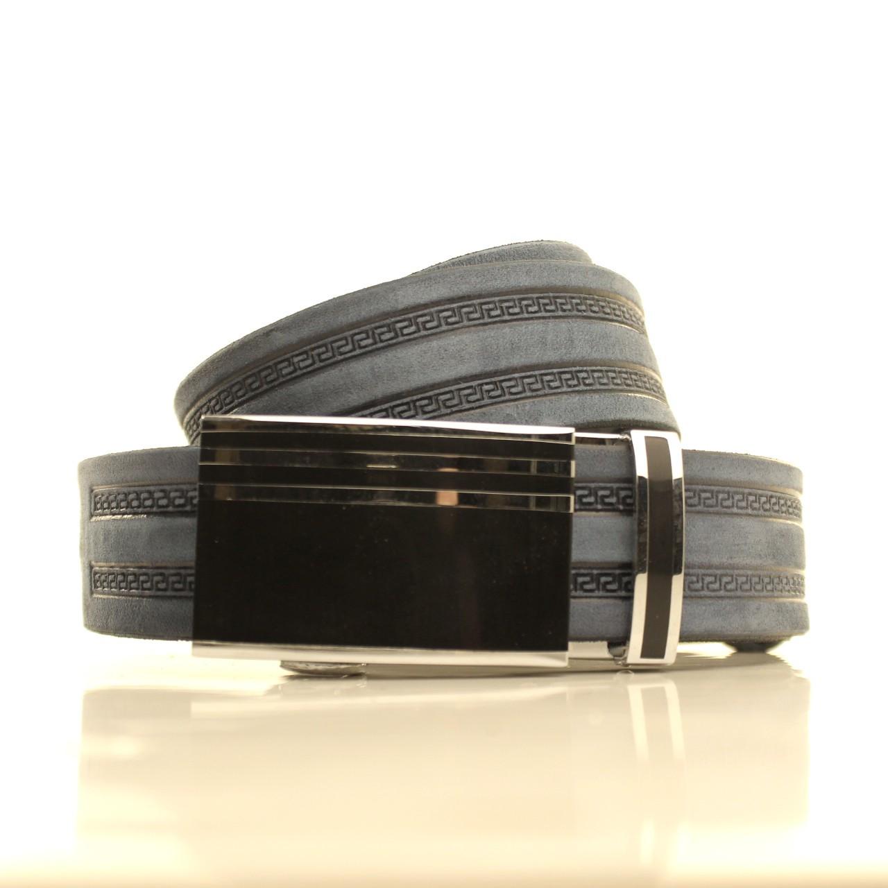 Ремень кожаный Lazar 120-125 см голубой l35u1a145