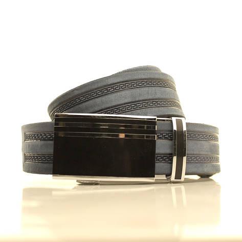 Ремень кожаный Lazar 120-125 см голубой l35u1a145, фото 2