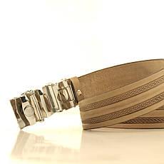 Ремень кожаный Lazar 120-125 см бежевый l35u1a146, фото 2