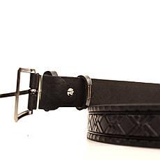 Ремень кожаный Lazar 60-70 см черный l30u3w20, фото 3