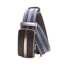 Ремень кожаный Lazar 120-125 см голубой l35y1a29, фото 2
