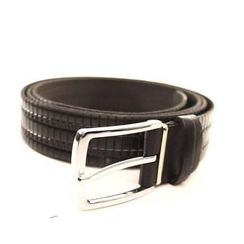 Ремень кожаный Lazar 140-145 см черный l35u1w64-1, фото 2