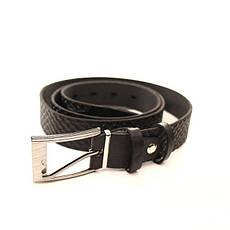 Ремень кожаный Lazar 120-125 см черный l30u1w8, фото 2