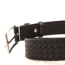 Ремень кожаный Lazar 120-125 см черный l30u1w8, фото 3