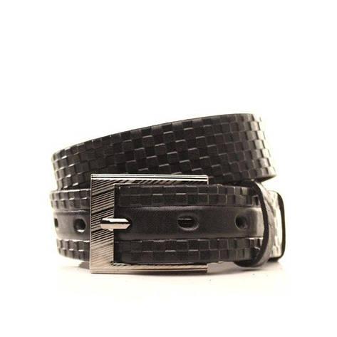 Ремень кожаный Lazar 120-125 см черный l30u1w10, фото 2