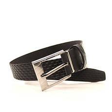 Ремень кожаный Lazar 120-125 см черный l30u1w10, фото 3