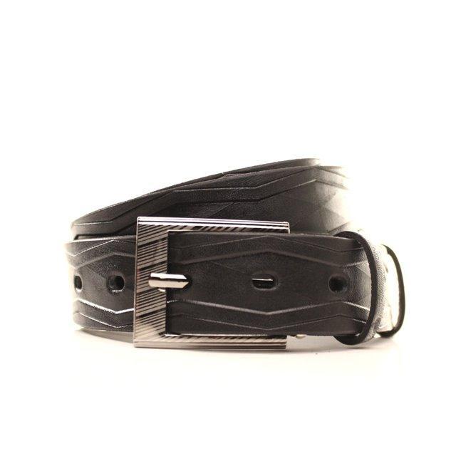 Ремень кожаный Lazar 120-125 см черный l30u1w12