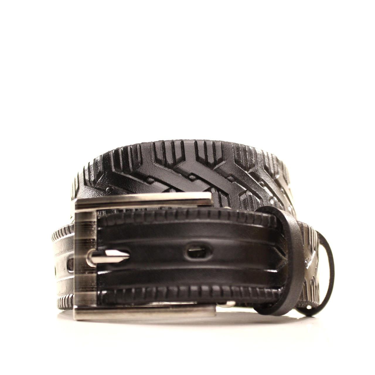 Ремень кожаный Lazar 70-80 см черный l30u3w7