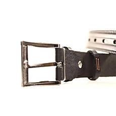 Ремень кожаный Lazar 70-80 см черный l30u3w7, фото 3
