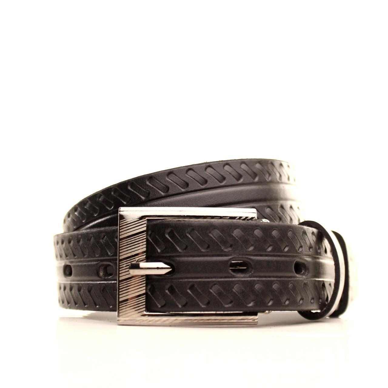 Ремень кожаный Lazar 60-70 см черный l30u3w21