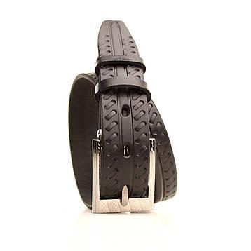 Ремень кожаный Lazar 60-70 см черный l30u3w21, фото 2
