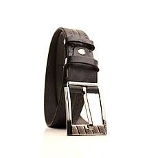 Ремень кожаный Lazar 60-70 см черный l30u3w21, фото 3