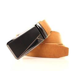 Ремень кожаный Lazar 120-125 см оранжевый l35y1a39, фото 3