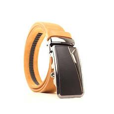 Ремень кожаный Lazar 120-125 см оранжевый l35y1a39, фото 2