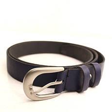 Ремень кожаный Lazar 105-110 см синий L25S0W78, фото 2