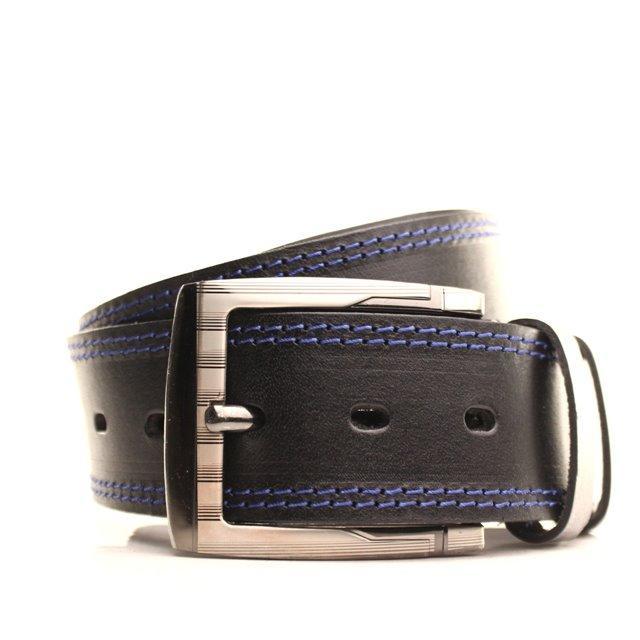 Ремень кожаный Lazar 120-125 см черный L45Y1W2