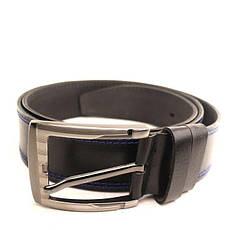 Ремень кожаный Lazar 120-125 см черный L45Y1W2, фото 2