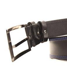 Ремень кожаный Lazar 120-125 см черный L45Y1W2, фото 3
