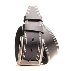 Ремень кожаный Lazar 120-125 см черный L45Y1W3, фото 2