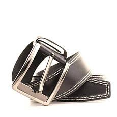Ремень кожаный Lazar 120-125 см черный L45Y1W3, фото 3