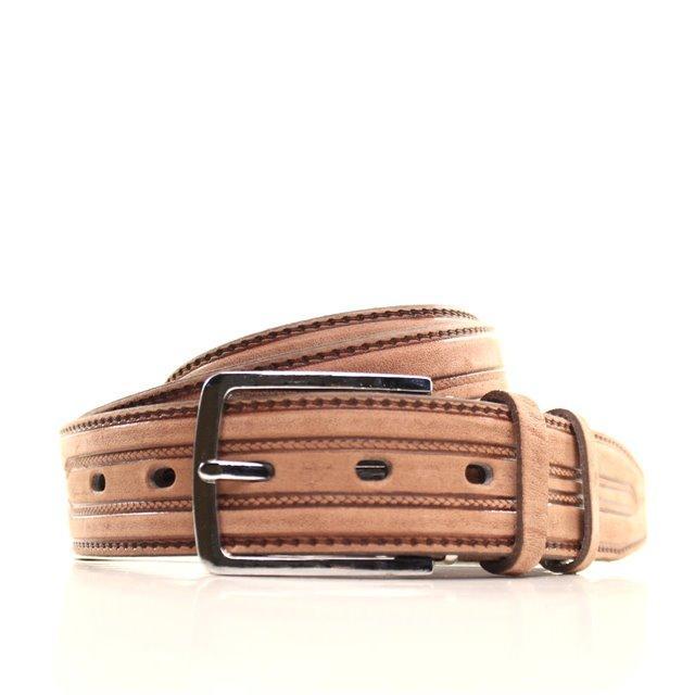 Ремень кожаный Lazar 120-125 см оранжевый L35U1W97