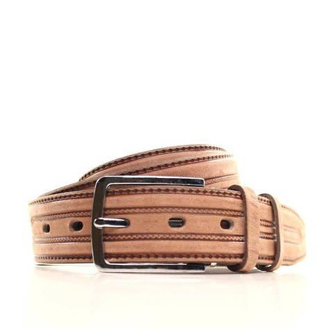 Ремень кожаный Lazar 120-125 см оранжевый L35U1W97, фото 2