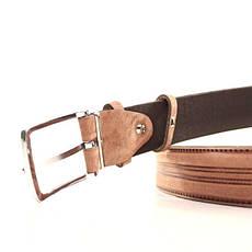 Ремень кожаный Lazar 120-125 см оранжевый L35U1W97, фото 3