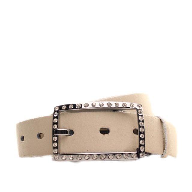 Ремень кожаный Lazar 115 см бежевый L30S0W14