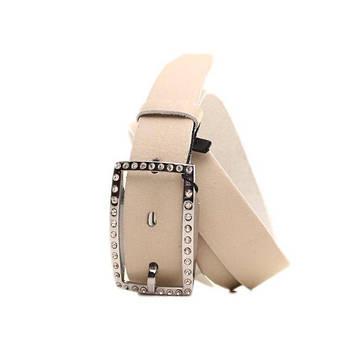 Ремень кожаный Lazar 115 см бежевый L30S0W14, фото 2