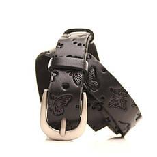 Ремень кожаный Lazar 105-115 см черный l20y0w13, фото 2