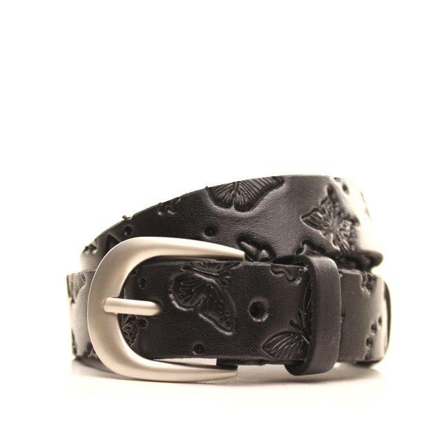 Ремень кожаный Lazar 120-125 см черный l20y0w13