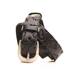 Ремень кожаный Lazar 120-125 см черный l20y0w13, фото 2
