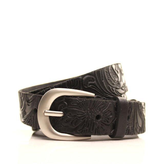 Ремень кожаный Lazar 105-115 см черный l20y0w12