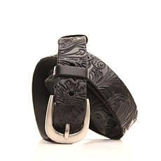 Ремень кожаный Lazar 105-115 см черный l20y0w12, фото 2