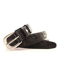 Ремень кожаный Lazar 105-115 см черный l20y0w12, фото 3