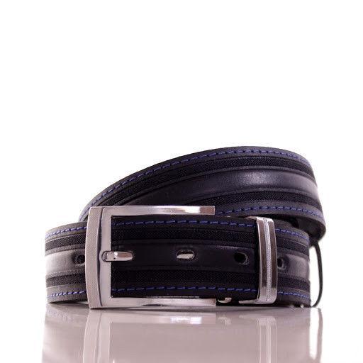 Ремень кожаный Lazar 105-110 см темно-синий Л35С1Ш50