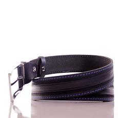 Ремень кожаный Lazar 105-110 см темно-синий Л35С1Ш50, фото 2
