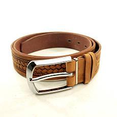 Ремень кожаный Lazar 115-120 см оранжевый L35U1W17-B, фото 2