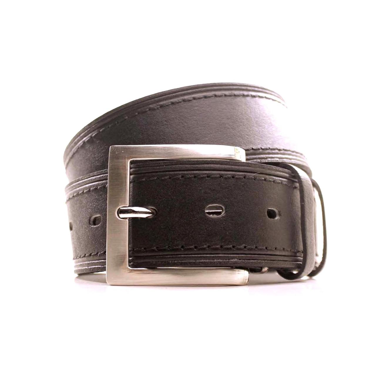 Ремень кожаный Lazar 105-115 см черный L40S1W9