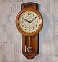 """Настенные часы с маятником """"Rikon RK4551"""" wood ivory (57*29*6 см.), фото 1"""