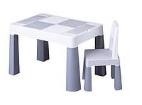 Детский столик и стульчик TEGA BABY MULTIFUN серый (Польша, оригинал), фото 1