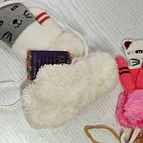 Варежки для девочки с котиком Возраст 3-5 лет, фото 2