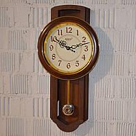 "Настенные часы с маятником ""Rikon RK4551"" wood lining ivory (57*29*6 см.), фото 1"