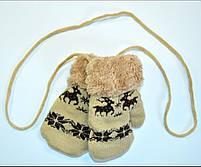 Варежки для девочки и мальчика с оленями Возраст 3-5 лет, фото 3