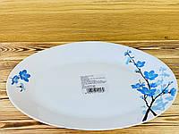 Блюдо овальное стеклокерамическое 33 см Larah Plano Mimosa Borosil, фото 1