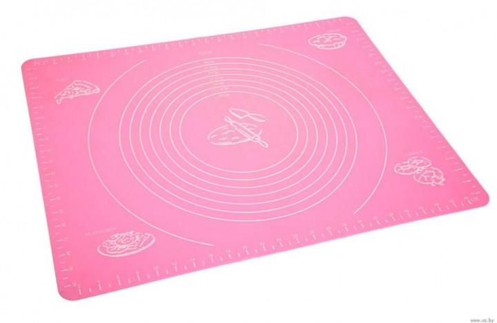 Cиликоновый коврик для выпечки 40CM*30CM Розовый