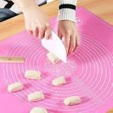 Cиликоновый коврик для выпечки 40CM*30CM Розовый, фото 2