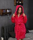 Халаты банные махровые с капюшоном до колена, размеры M-XXL Турция, фото 2